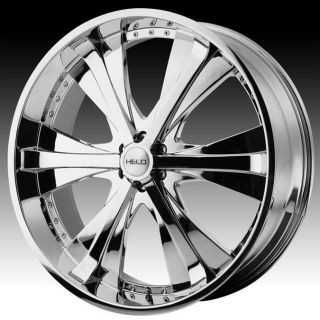 22 inch Helo chrome wheels rims 5x5.5 5x139.7 +15 dodge ram 1500 ford