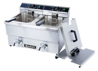 Commercial Double DEEP FRYER 50lbs/hr ADCRAFT DF 12L/2