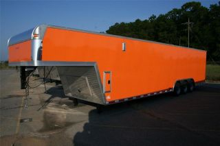 5x38 Gooseneck Enclosed Trailer Cargo AUTO HAULER RACING CAR Goose