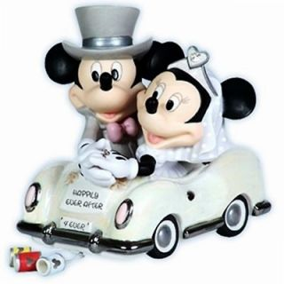 Moments Disney Mickey & Minnie Mouse Wedding Car Figurine 113703