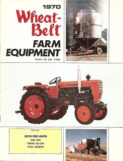 Farm Equipment Brochure   Wheat Belt Tractor Tiller Forage Auger Bar