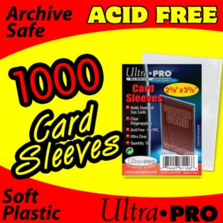 plastic card sleeves in Storage & Display Supplies