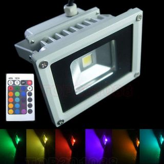 10W RGB LED Outdoor Flood Light Landscape Lamps +24 key IR Remote