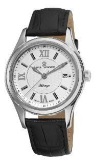 Revue Thommen Mens 21012.2532 Heritage Mens Black Leather Strap