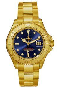 Rolex Mens Yellow Gold Yachtmaster White Dial Watches