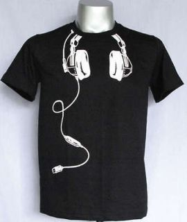 Funky Indie DJ Headphones Music Hip Hop T Shirt Mens XL