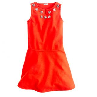 Girls jeweled flare dress   party   Girls dresses   J.Crew
