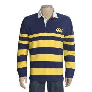 Canterbury of New Zealand Block Stripe Rugby Polo Shirt   Long Sleeve