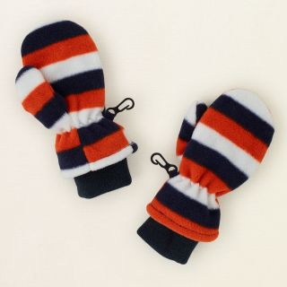 baby boy   striped fleece mittens  Childrens Clothing  Kids Clothes