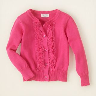 baby girl   sweaters   ruffle cardigan sweater  Childrens Clothing