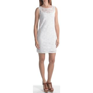 Laundry by Design Crochet Lace Sheath Dress   Sleeveless (For Women