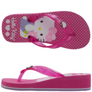 Girls   Hello Kitty   Girls Hello Kitty EVA Wedge Flip Flop   Payless
