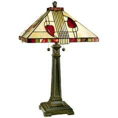 Henderson Tall Cream Glass Dale Tiffany Table Lamp