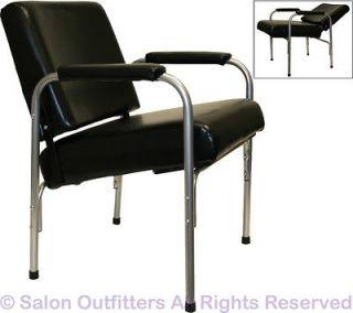 Black Cushion Arm Shampoo Chair Auto Reclining Barber Beauty Spa Salon