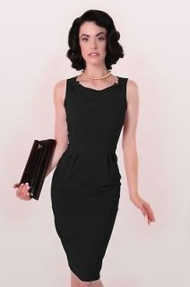 Bettie Page Gigi Black Dress  NWT Sizes S, M