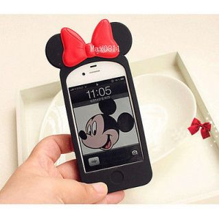 Mickey Minnie Mouse Ear Hello Kitty Case Back Cover for i Phone 4 4S V