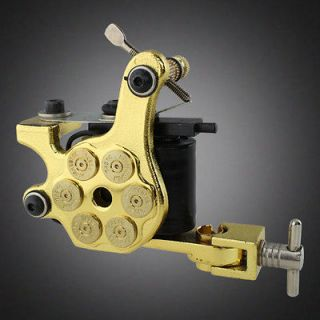NEW Bullet Custom Handmade Liner Tattoo Machine Gun Dual 10 Wrap Coil