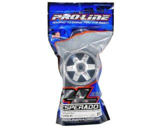 Pro Line Desperado 3.8 17mm 1/2 Offset Wheels (Chrome) (2) [PRO2733