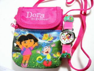 New DORA the explorer Kids 3D Watch & Shoulder Bag NEW