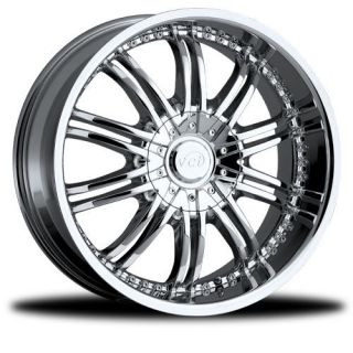 NEW 17x7.5 4x100 4x4.5 VCT Santino Chrome Wheels