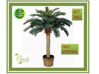 Silk palm tree fake plants home office Artificial house flower plant