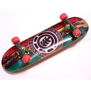 Tuned Rasta Element Wooden Fingerboard Fast Shipping