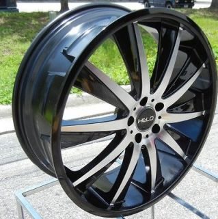 22 BLACK HELO 851 WHEELS RIM HONDA ACCORD FORD EDGE NITRO TAURUS SHO