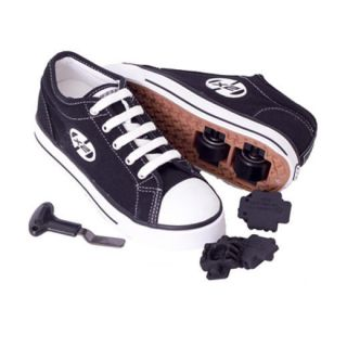 NEW HEELYS GIRLS BOYS JUNIOR JAZZY BLACK PINK WHITE SKATING SHOES