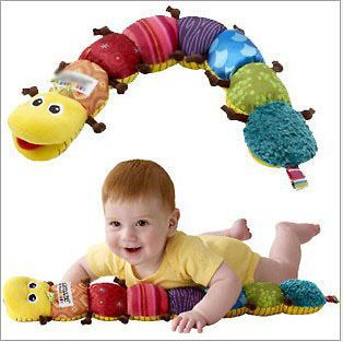 Musical Inchworm Plush Soft Toys Educational Baby Toys for 0 12months