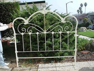 Newly listed Lovely and ornate iron bed frame