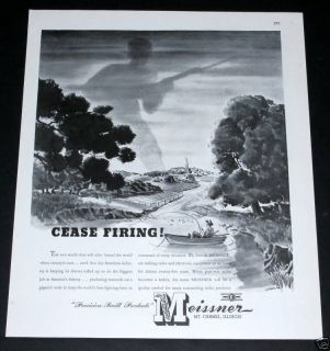 1943 OLD WWII MAGAZINE PRINT AD, MEISSNER RADIO PRODUCTS, STEBBING