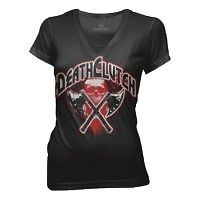 DEATHCLUTCH BLACK AXES TEE WOMENS SIZE SMALL BROCK LESNAR UFC V NECK