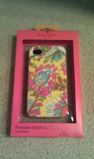 NIB Kate Spade Premium Hardshell Case/Cover iPhone 4 or 4S Paisley