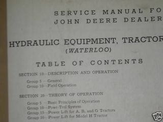 John Deere Tractor& Engines Technical manual from 1949