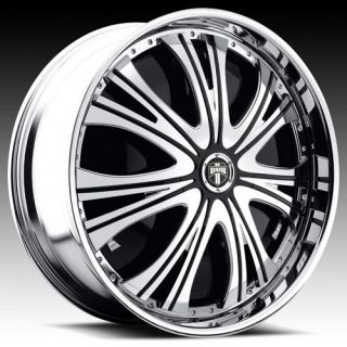 32 DUB SPIN Mamba Wheel SET Chrome Spinners 32x10 RWD 5 6 & 8 LUG