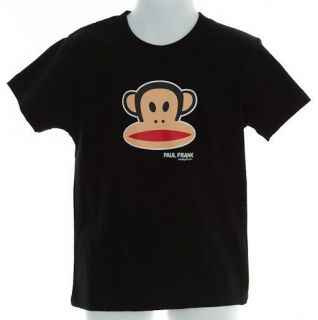 PAUL FRANK Julius Monkey T Shirt 4 Boy, NWT New s/s Black T Tee Shirt