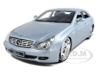 mercedes cls class custom silver 1 18 diecast model car