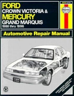 Haynes Ford Crown Victoria and Mercury Grand Marquis 1988 96 1996