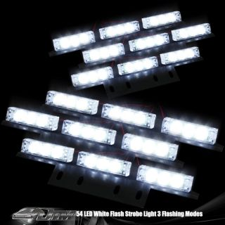 LED Emergency Indicator Strobe Flash Lights/Lightbars Deck Dash Grille
