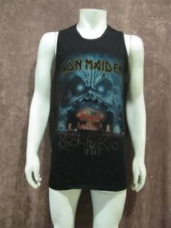 Iron Maiden Rock in Rio Concert Tour Men T Shirt Tank Top Sz L