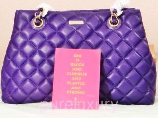 KATE SPADE NEW YORK MARYANNE GOLD COAST QUILTED LEATHER SHOPPER