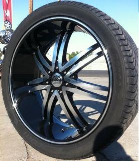 B14 BLACK WHEELS RIMS AND TIRES 6X139.7 TAHOE 2002 2003 2004 2005