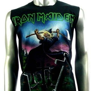 Maiden Sleeveless T Shirt Tank Top Biker Rider Heavy Metal Rock KB29