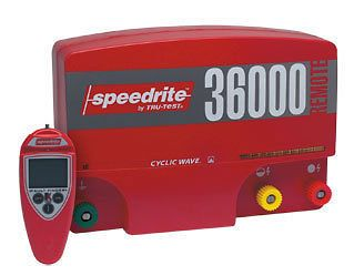 SPEEDRITE 36000RS ELECTRIC FENCE CHARGER ENERGIZER 36J FREE REMOTE