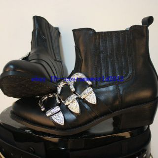 RAREMICHAEL JACKSON BAD LEATHER BOOTS HANDMADE SHOES  Professional