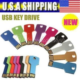 Color USB 2.0 Metal Key Flash Memory Drive Thumb Design 1GB 2GB 4GB
