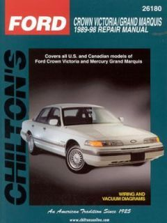 Ford Crown Victoria and Grand Marquis, 1989 98 by NP Chilton Editors