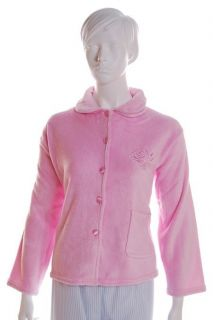 Lady Olga Super Soft Fleece Bed Jacket Button Down Dressing Gown Bath