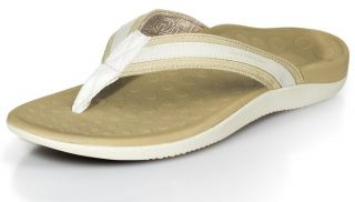 orthaheel tide women s flip flop thong sandals white beige