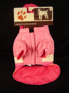 small dog coat winter pink dachshund poodle Bichon apparel new